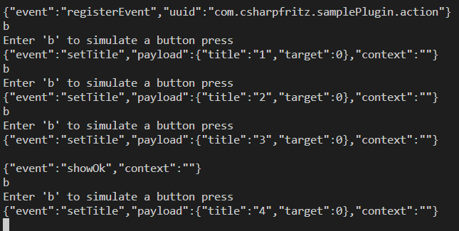 Stream Deck Plugin Events Received Upon Button Press