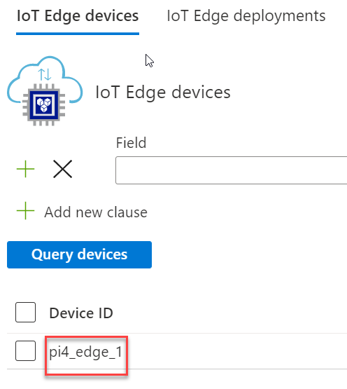 IoT Edge Device List