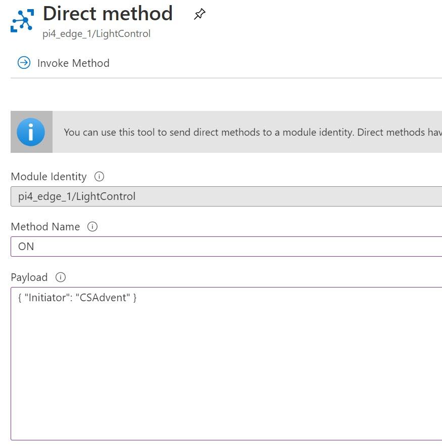 Invoke direct method