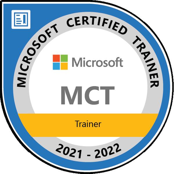 Microsoft Certified Trainer 2021-2022