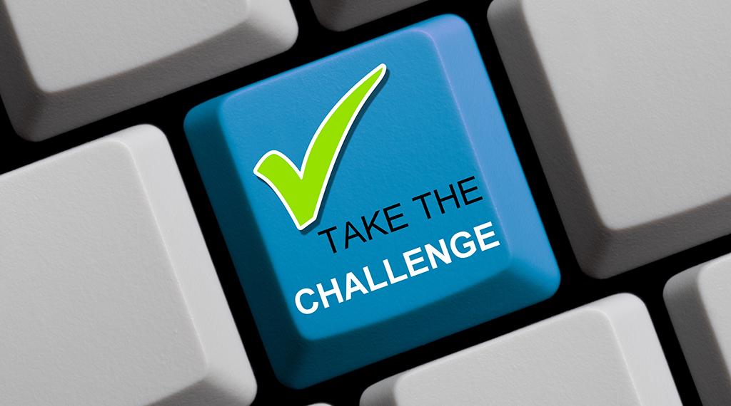 Take the Challenge key on a keyboard